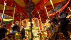 Whirligig in Hyde Park Winter Wonderland,london Stock Footage