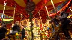 whirligig in Hyde Park Winter Wonderland,london - stock footage