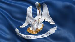 US state flag of Louisiana - stock photo