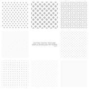 Set of simple dotted patterns, seamless - stock illustration