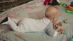 Six month baby girl Stock Footage