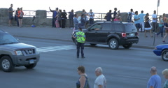 Police officer directing the traffic at Niagara Falls, Canada Stock Footage