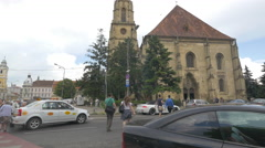 St. Michael's Church in Cluj-Napoca Stock Footage