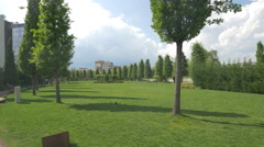 Great afternoon in Iulius Park, Cluj-Napoca Stock Footage