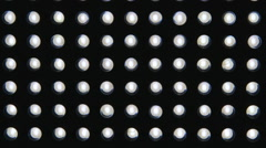 Led light diodes display panel pattern close-up Stock Footage