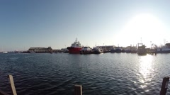 Ships at Fremantle Docks Stock Footage