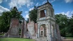 Old Gorhambury House st albans england ruin mansion historic Stock Footage