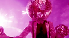 Disco mr discoball party music club entertainment sky Stock Footage