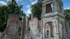 Old Gorhambury House st albans england ruin mansion historic Stock Footage