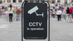 Timelapse london city surveillance cctv cameras security urban Stock Footage