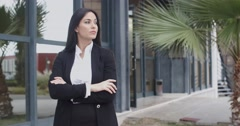 Impatient smart young businesswoman - stock footage