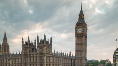 Big ben houses of parliament london tourists city urban Stock Footage