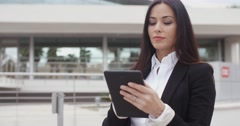 Young contemplative businesswoman - stock footage