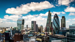 Timelapse london city skyline skyscrapers architecture england urban Stock Footage