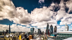 timelapse london city skyline skyscrapers architecture england urban - stock footage