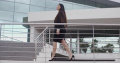 Stylish confident business manageress Stock Footage