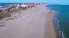 Strip of Coast Between the Sea and the River. Stock Footage