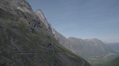 Trollstigen pass lake water norway nature timelapse Stock Footage