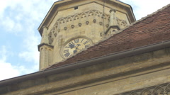 Clock of St. Michael's Church, Cluj-Napoca Stock Footage