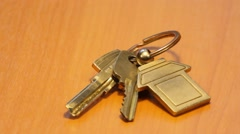 House keys Stock Footage