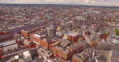 Aerial video of Dublin  - stock footage