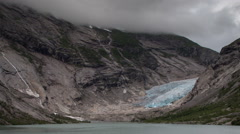 Norway glacier arctic nature snow ice nigardsbreen Stock Footage