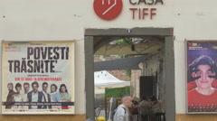 Casa Tiff on University street in Cluj-Napoca Stock Footage