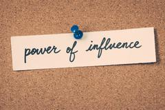 Power of influence Stock Photos