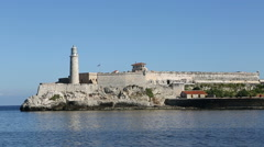View of the lighthouse of Havana, the capital city of the Republic of Cuba Stock Footage