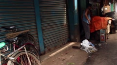 Moving through market bazaar in India smooth tracking shot 2 Stock Footage
