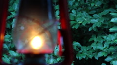 Africa safari paraffin camping lantern, rack focus or pull focus Stock Footage