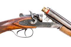Hunting rifle on white background - stock photo