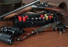 Hunting equipment - stock photo