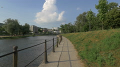 Somesul Mic River, Cluj-Napoca - stock footage