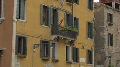 Stock Video Footage of Tilt up view of a building in Campo dei Frari, Venice