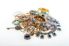 jewels and precious gemstones - stock photo