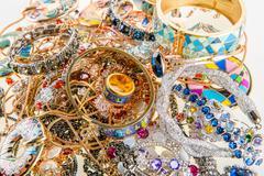 Jewels and precious gemstones Stock Photos