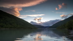 Sunset lake water norway nature timelapse Stock Footage