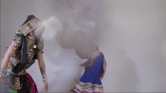 Dancers indian music performer art beats Stock Footage