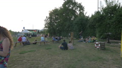 Sitting at River Fest, Cluj-Napoca Stock Footage