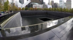 Norht Pool 911 Memorial NewYork USA  Stock Footage