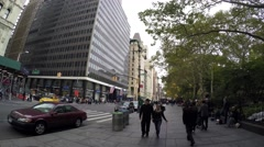 1 NewYork Place - Boadway Stab Stock Footage