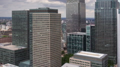 Docklands canary wharf london finance city money business offices Stock Footage