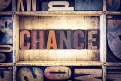 Chance Concept Letterpress Type Stock Photos