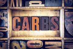 Stock Photo of Carbs Concept Letterpress Type