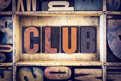 Club Concept Letterpress Type - stock photo