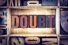 Doubt Concept Letterpress Type - stock photo