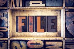 Stock Photo of File Concept Letterpress Type
