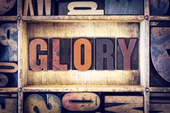 Glory Concept Letterpress Type - stock photo