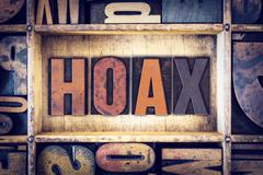 Stock Photo of Hoax Concept Letterpress Type